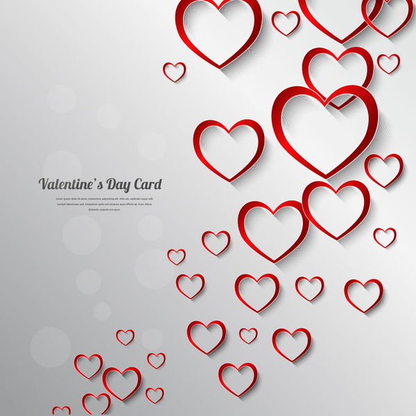 Valentine Day Card Decor Background Free Vector In Adobe Illustrator
