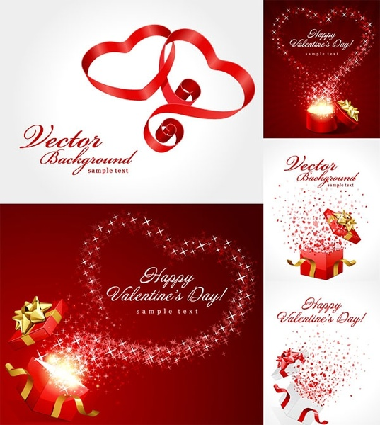 valentine day gift ribbon and clip art