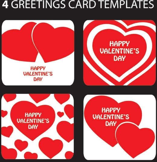 Valentine day heartshaped greeting card template vector free vector valentine day heartshaped greeting card template vector maxwellsz