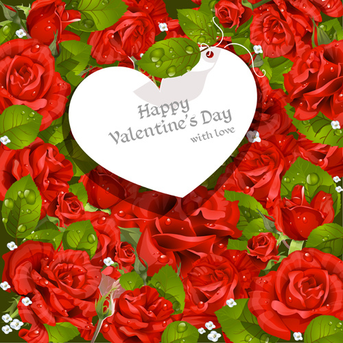 valentine day love backgrounds vector