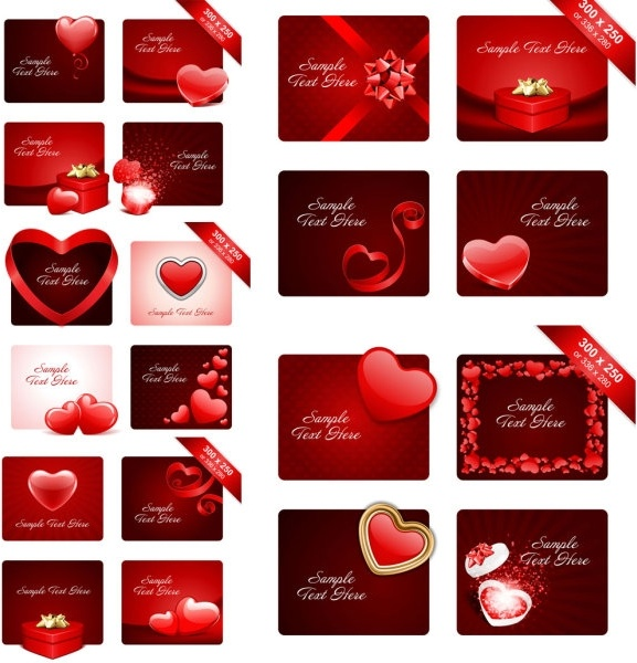 valentine day romantic elements vector