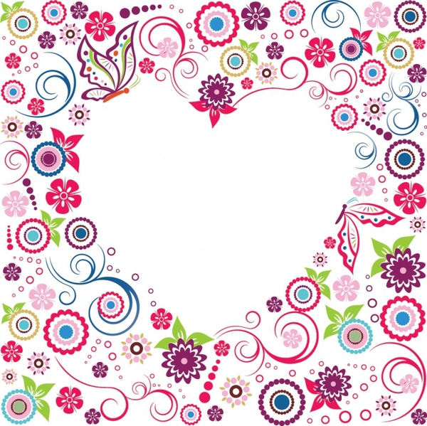 Valentine Flowers Frame
