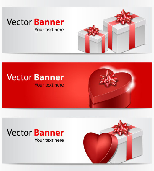 Valentine Gift Box Banner Vector Free Vector In Encapsulated