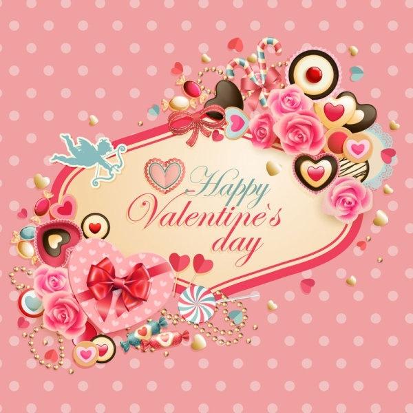 valentine labels vector