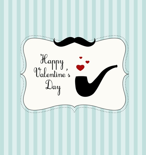 valentine painted lace border vector element