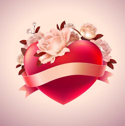 valentine red heart background creative vector