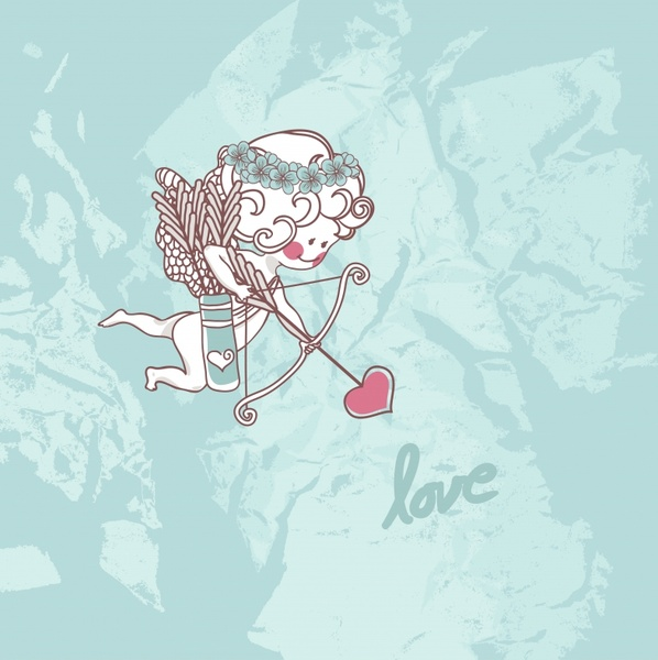 valentine vector lace elements painted