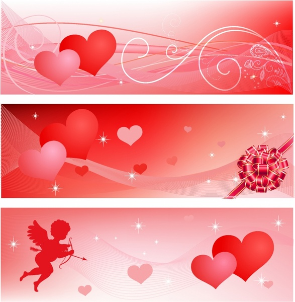 valentine s banners set free vector in adobe illustrator ai ai
