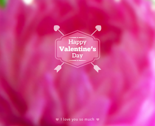 valentines day blurred flower background vector