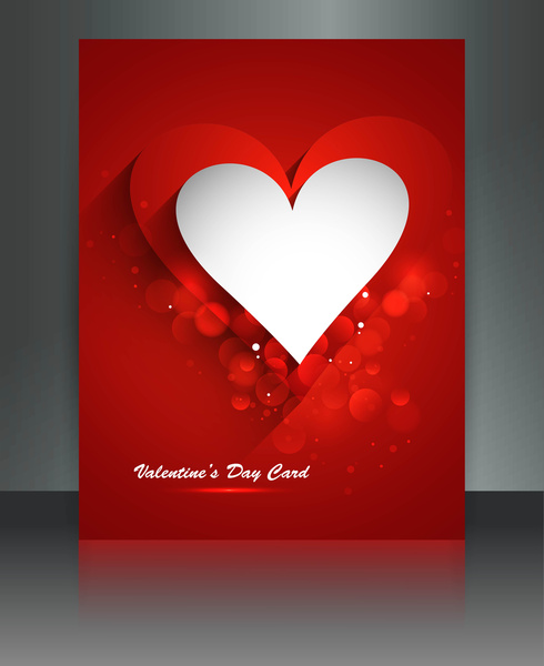 valentines day for brochure template heart background colorful