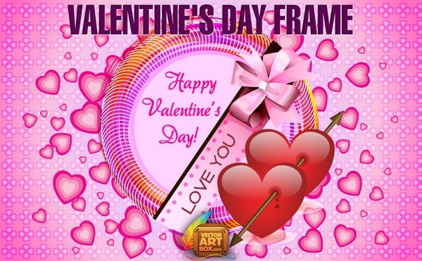 Valentines Day Frame Free Vector In Adobe Illustrator Ai Ai