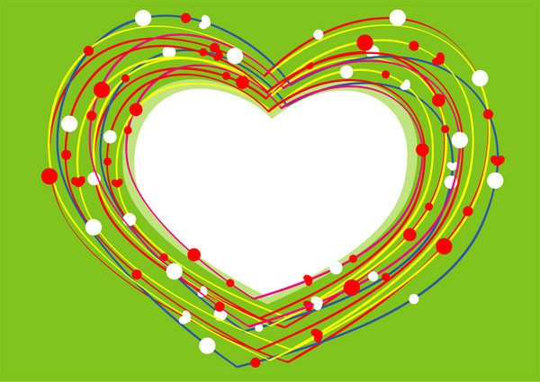 valentines day heart lines
