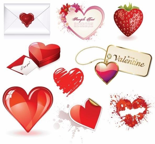 Valentines Day Heart Vector Set