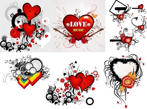 valentine\u0026#39;s day heart-shaped theme trend vector illustration