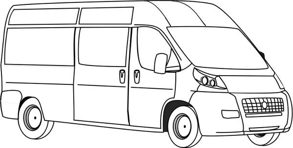 Line Art Software Free Download : Van line art free vector in open office drawing svg