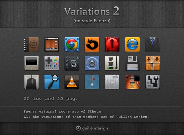 VARIATIONS on style Faenza icons pack