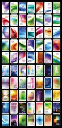 variety of abstract card background set vector