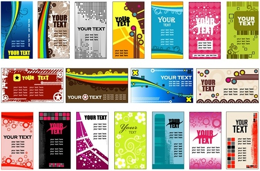 variety of background card template vector