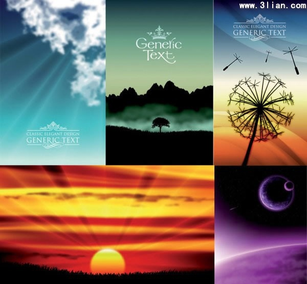 nature background templates modern colored realistic design
