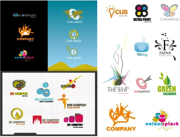 variety of logo template vector