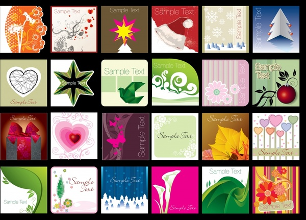 decorative background templates collection colorful classical decor