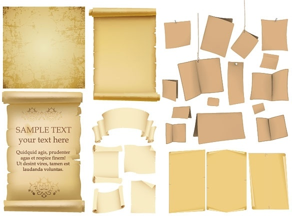 Variety of old paper vector Free vector in Encapsulated