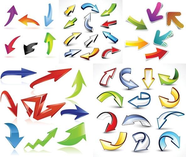 variety of practical dynamic arrow vector