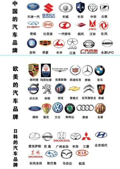 various car logo psd