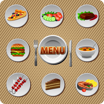 Various Food And Drink Design Vector Free Vector In Encapsulated
