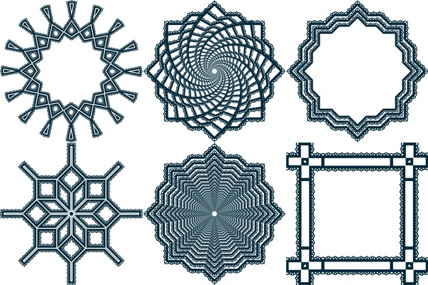 various ornamental shapes with lace border free vector in open rh all free download com lace border vector free black lace border vector