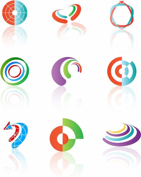 Various shapes and graphic design elements