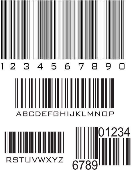 various types of barcodes vector set free vector in encapsulated