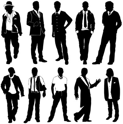 various types of man vector