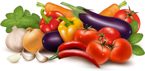 Fruits and vegetables clip art free vector download ...