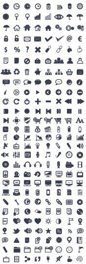 various web icon collection vector