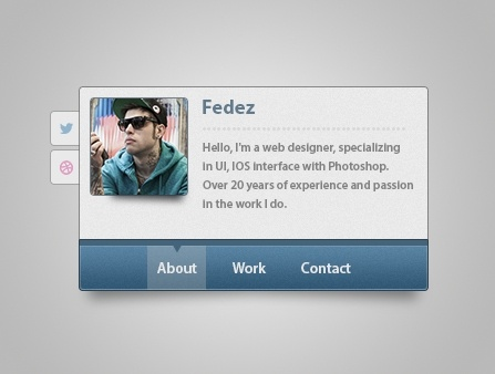 vCard PSD Interface