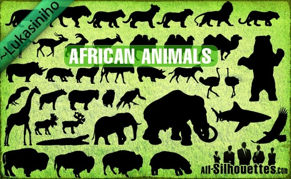 Vector African Animals Silhouettes Free Vector In Adobe Illustrator