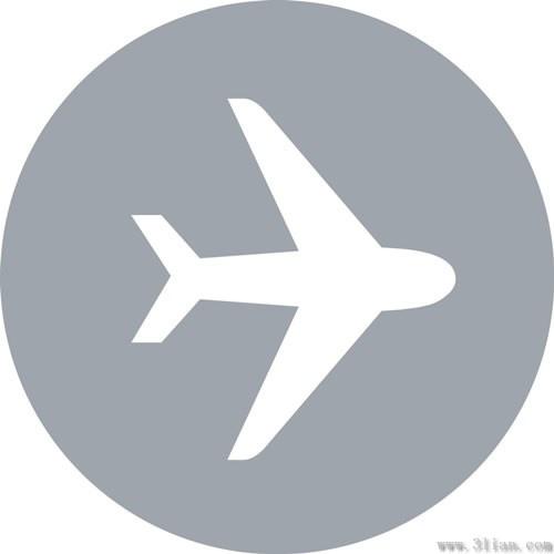 Vector Airplane Icon Vector Free Vector In Adobe Illustrator Ai
