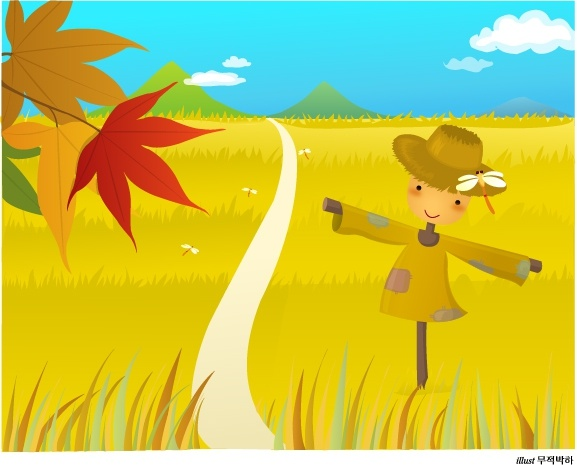 countryside scenery painting yellow field leaf dummy icons