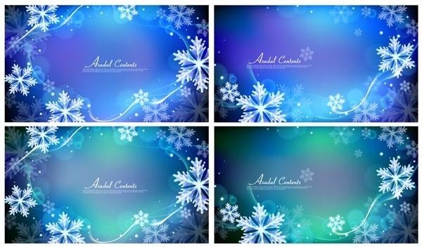 vector background dream snow