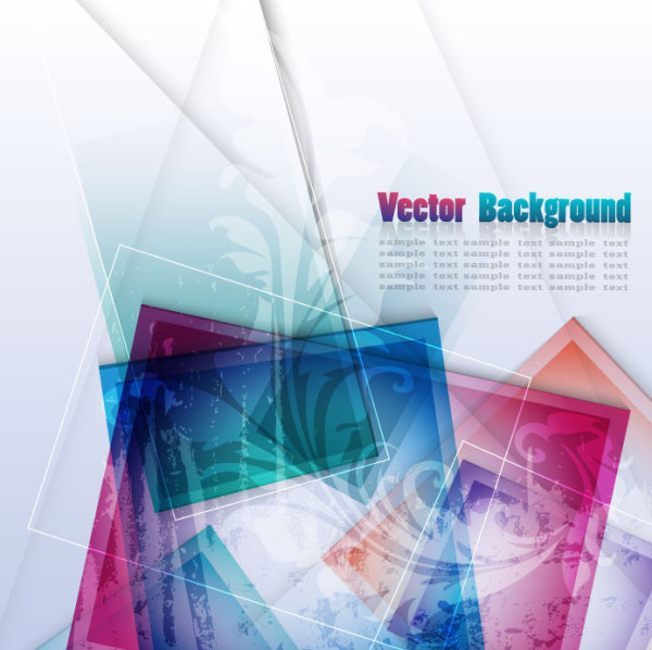vector background of abstract colorful art