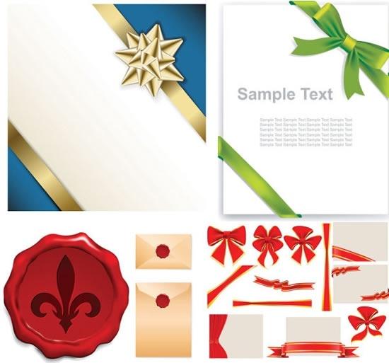 knot seal ribbon templates shiny colored modern design