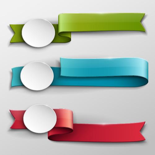vector banner colored ribbon design