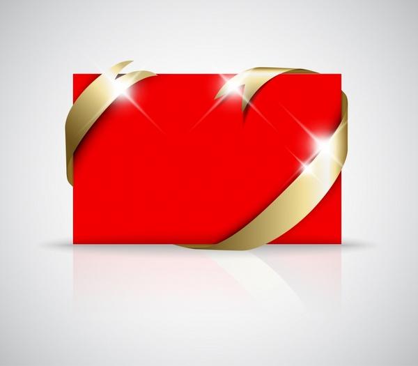 card template modern luxury sparkling red golden decor