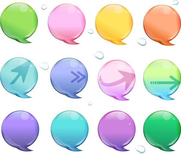 speech bubble templates modern colored flat design