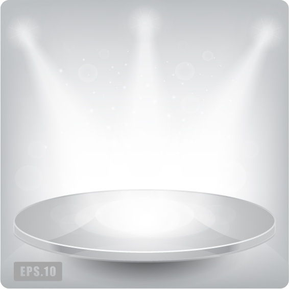 stage background template modern 3d design sparkling light