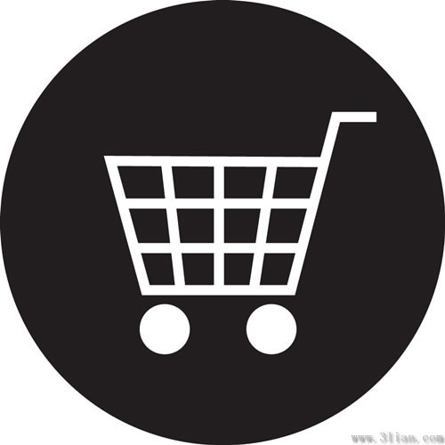 vector black background shopping cart icon free vector in adobe rh all free download com shopping cart icon vector psd shopping cart icon vector free download