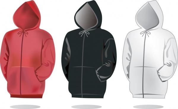 jacket templates modern design colored 3d sketch