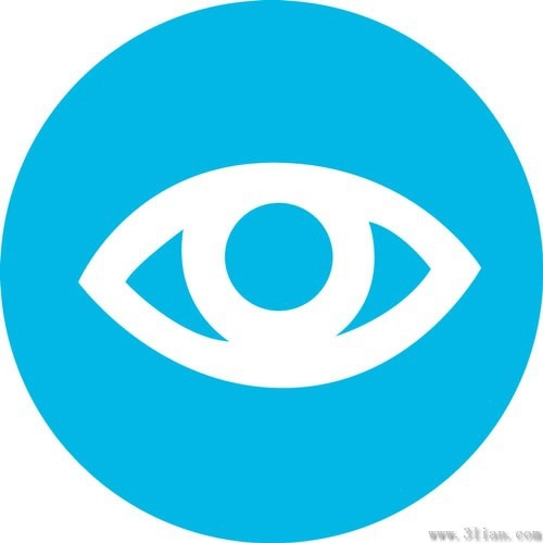 vector blue background eye icon free vector in adobe beach clip art free black and white free beach clipart