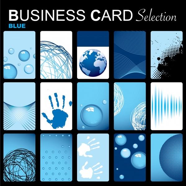 card cover templates modern blue decor